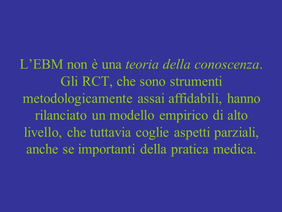 L'EBM non è una teoria della conoscenza