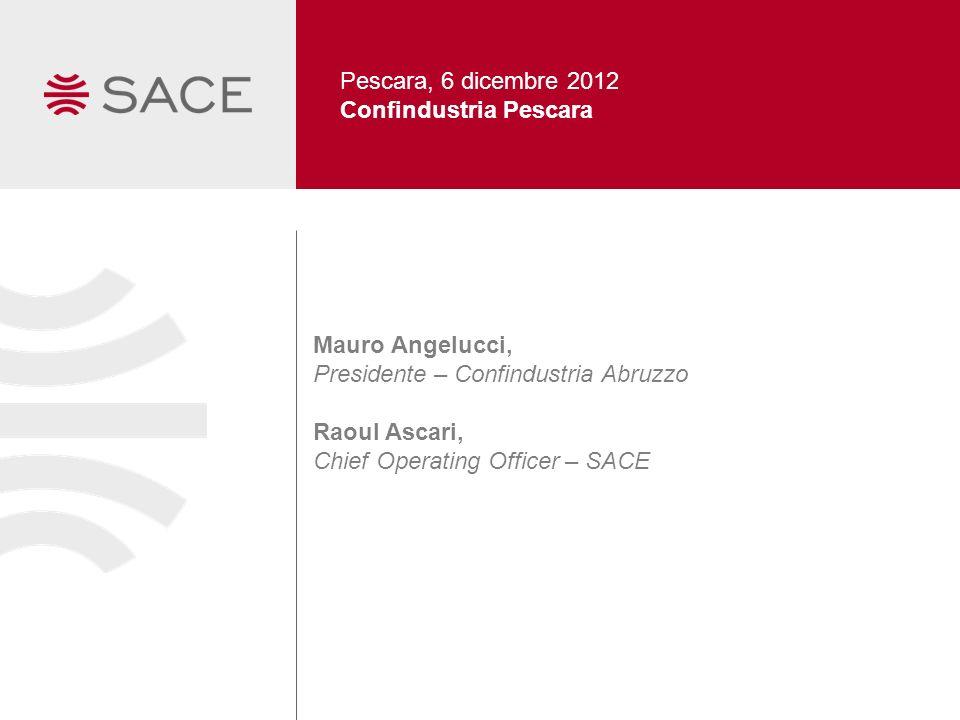 Pescara, 6 dicembre 2012 Confindustria Pescara. Mauro Angelucci, Presidente – Confindustria Abruzzo.