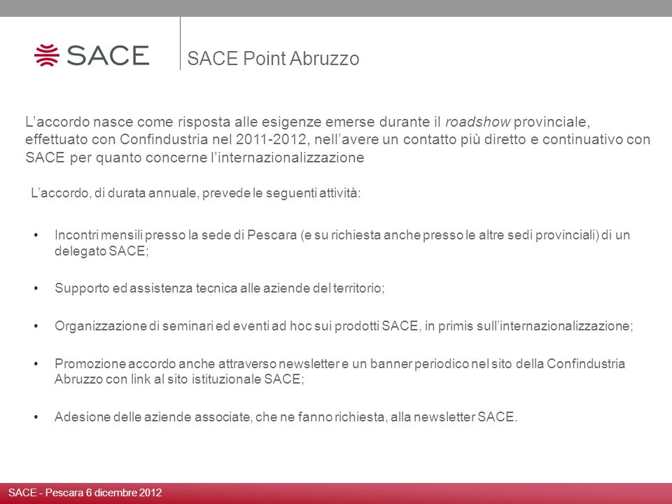 SACE Point Abruzzo