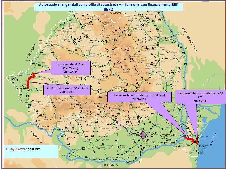 Autostrade e tangenziali con profilo di autostrada – in funzione, con finanziamento BEI/ BERD