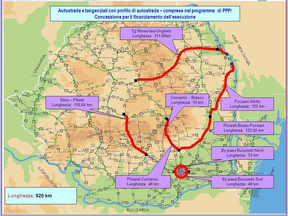 Autostrade e tangenziali con profilo di autostrada – comprese nel programma di PPP/ Concessione per il finanziamento dell'esecuzione