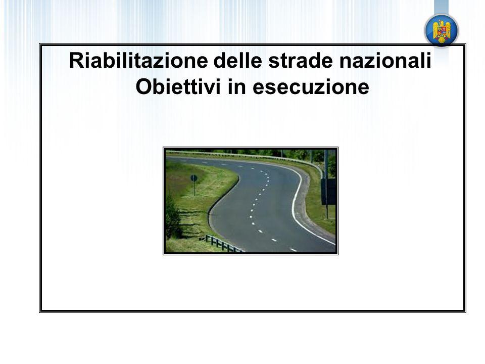 Riabilitazione delle strade nazionali Obiettivi in esecuzione