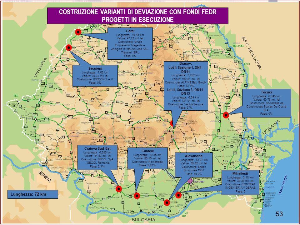 COSTRUZIONE VARIANTI DI DEVIAZIONE CON FONDI FEDR PROGETTI IN ESECUZIONE