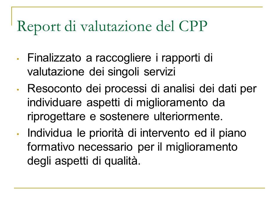 Report di valutazione del CPP