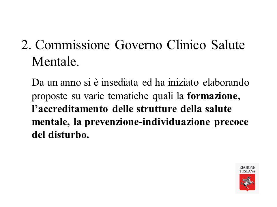 2. Commissione Governo Clinico Salute Mentale.