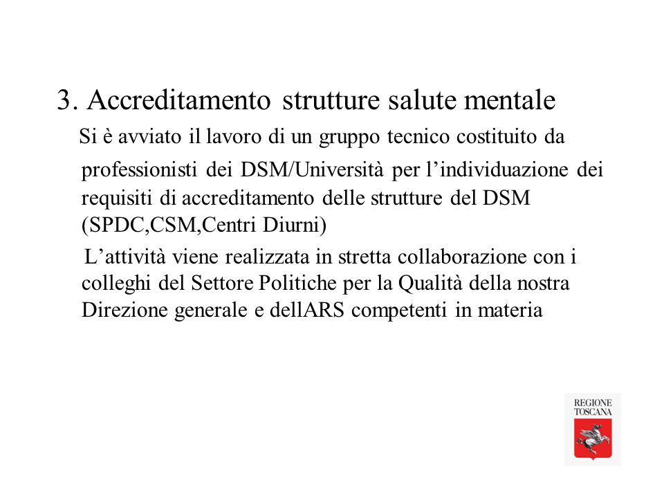 3. Accreditamento strutture salute mentale
