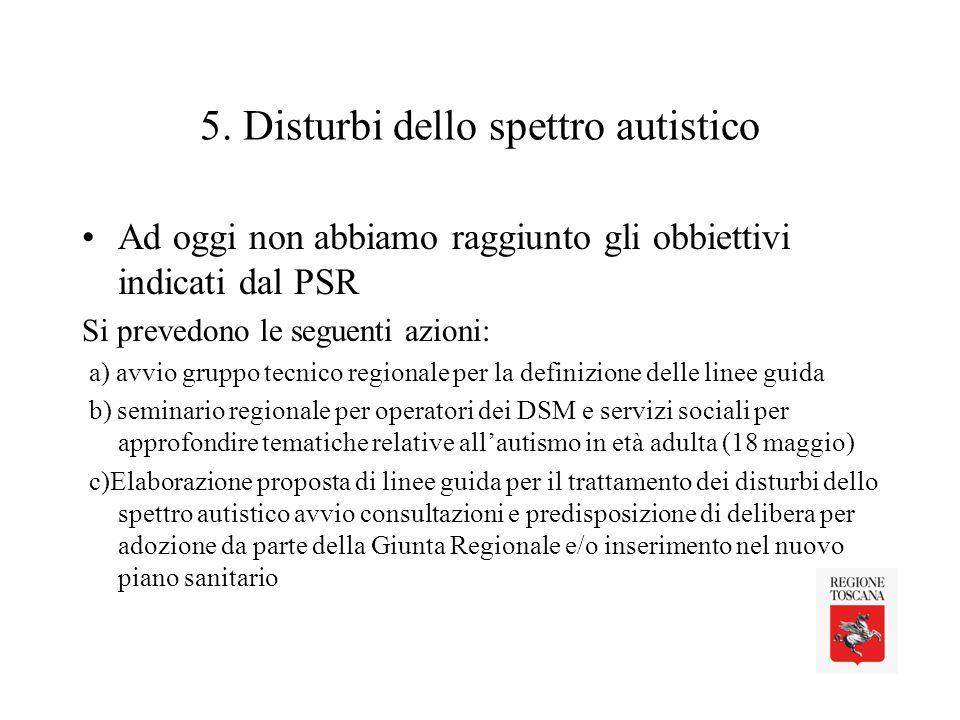 5. Disturbi dello spettro autistico