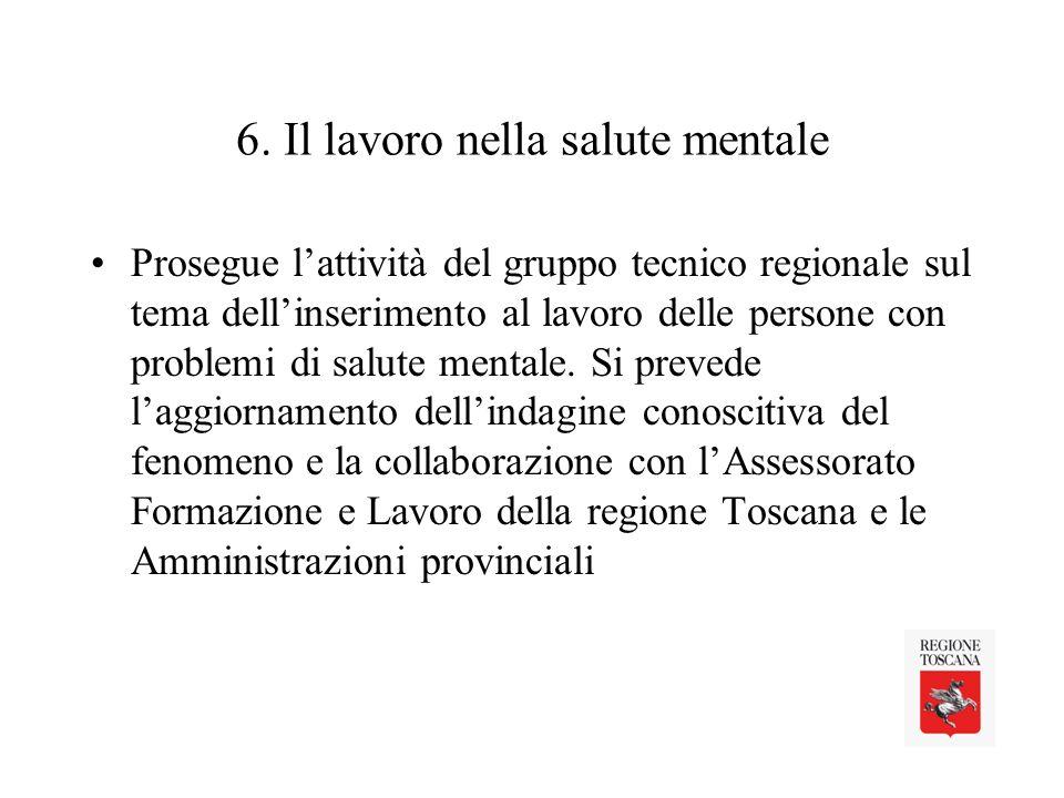 6. Il lavoro nella salute mentale