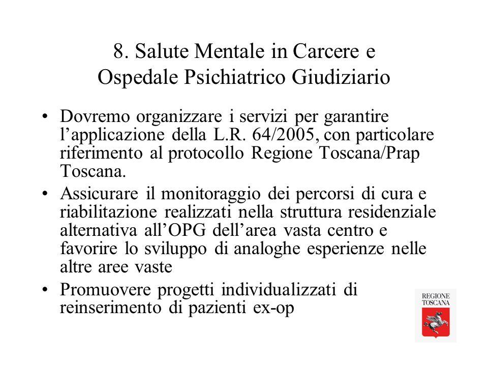 8. Salute Mentale in Carcere e Ospedale Psichiatrico Giudiziario