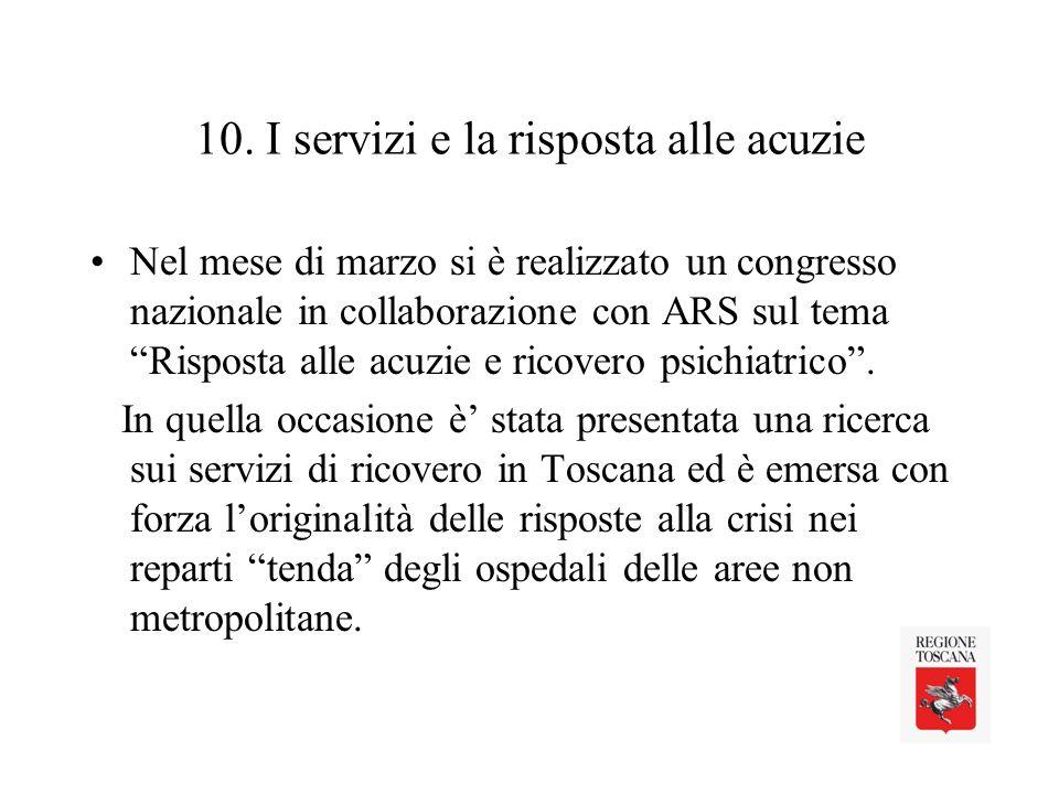 10. I servizi e la risposta alle acuzie
