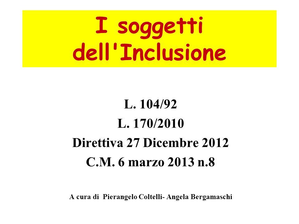 I soggetti dell Inclusione