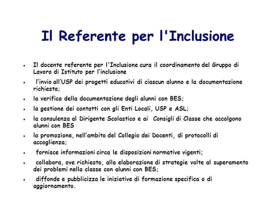 Il Referente per l Inclusione