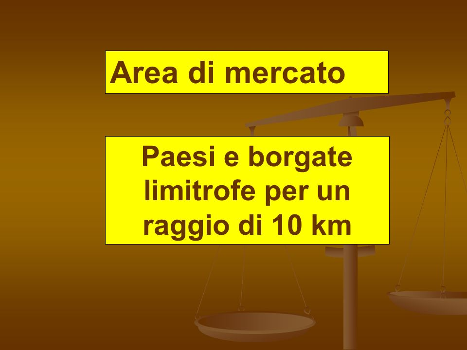 Paesi e borgate limitrofe per un raggio di 10 km