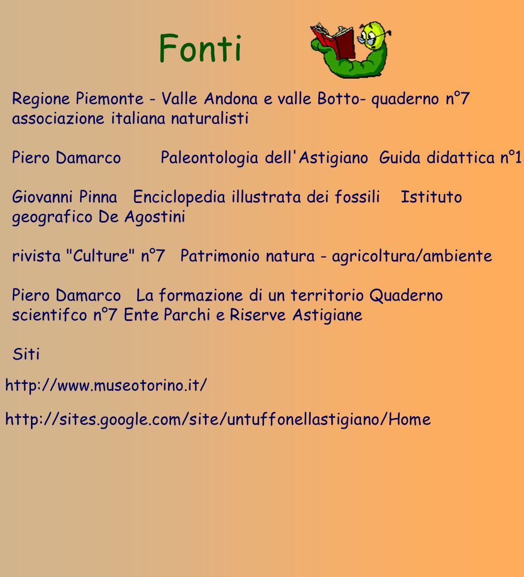 Fonti Regione Piemonte - Valle Andona e valle Botto- quaderno n°7 associazione italiana naturalisti.