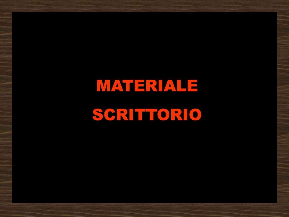 MATERIALE SCRITTORIO