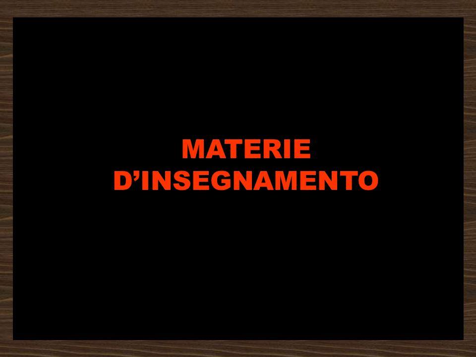 MATERIE D'INSEGNAMENTO