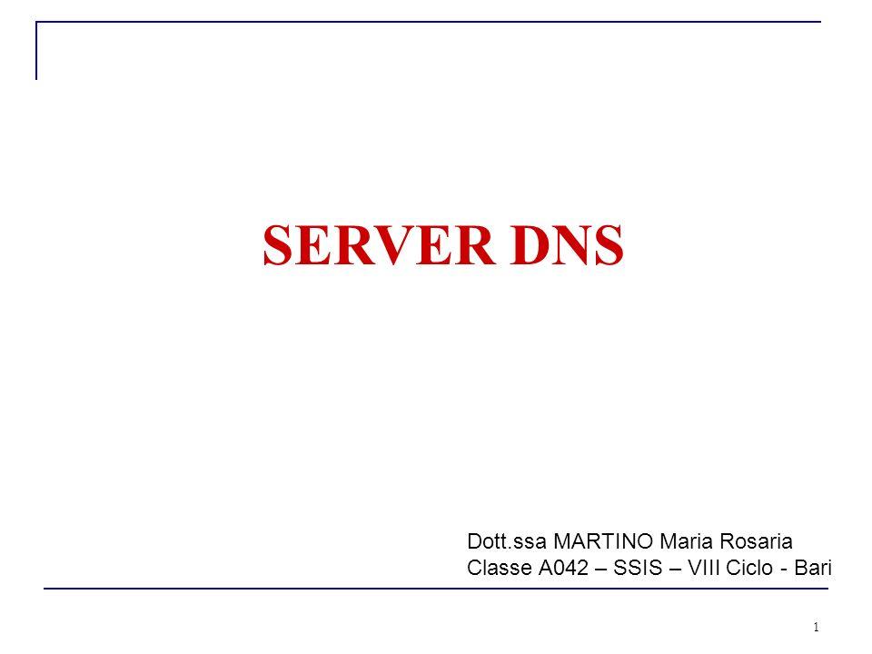 SERVER DNS Dott.ssa MARTINO Maria Rosaria