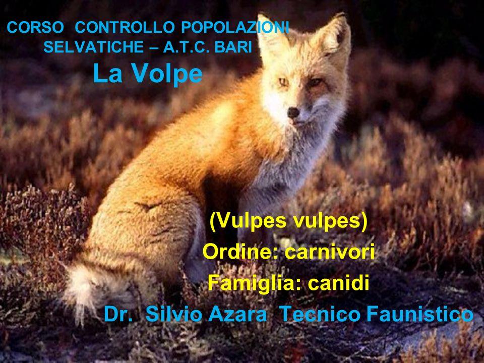 CORSO CONTROLLO POPOLAZIONI SELVATICHE – A.T.C. BARI La Volpe