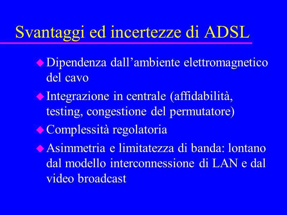 Svantaggi ed incertezze di ADSL