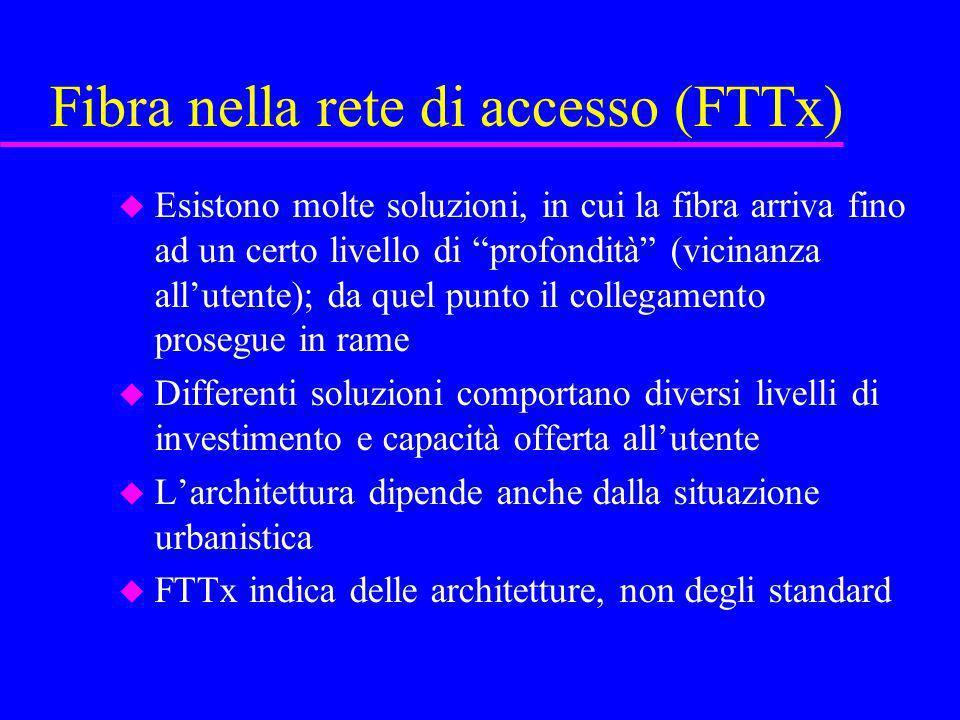 Fibra nella rete di accesso (FTTx)