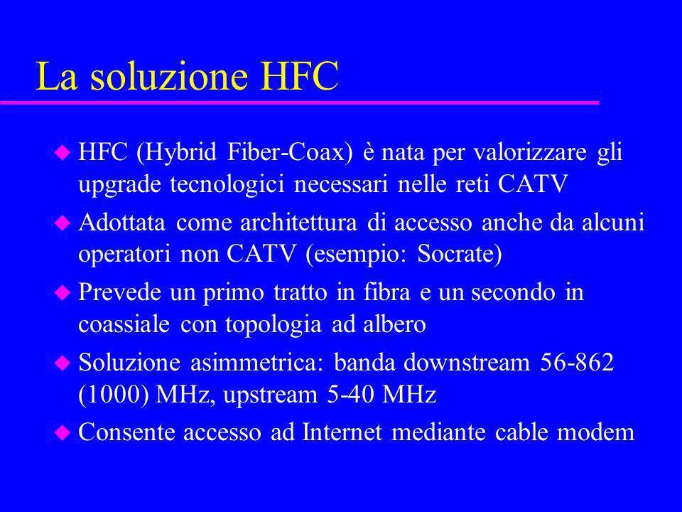La soluzione HFC HFC (Hybrid Fiber-Coax) è nata per valorizzare gli upgrade tecnologici necessari nelle reti CATV.