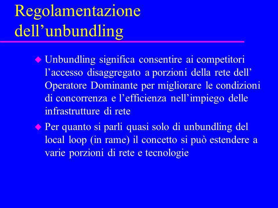 Regolamentazione dell'unbundling