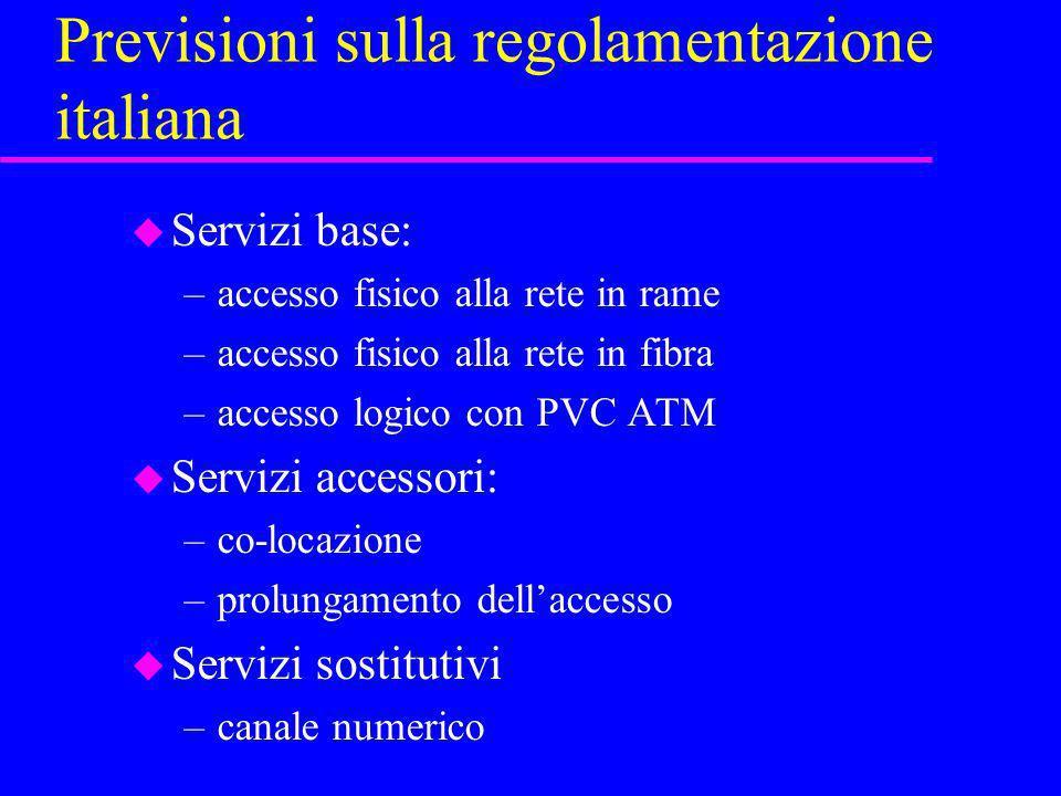 Previsioni sulla regolamentazione italiana