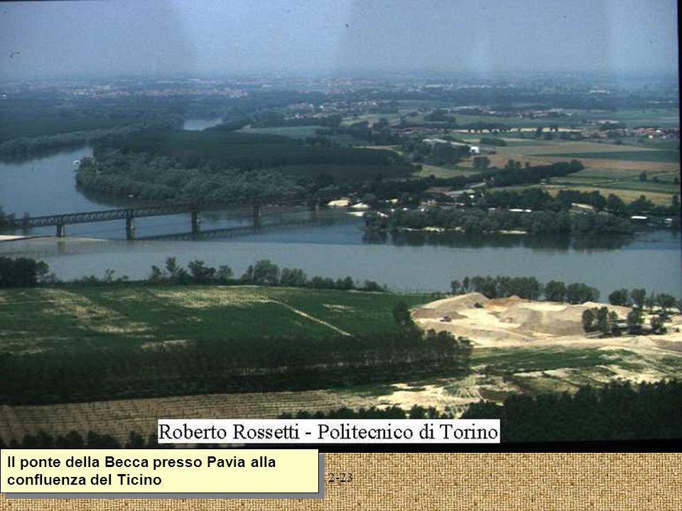 Il ponte della Becca presso Pavia alla confluenza del Ticino