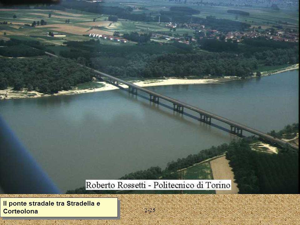 Il ponte stradale tra Stradella e Corteolona