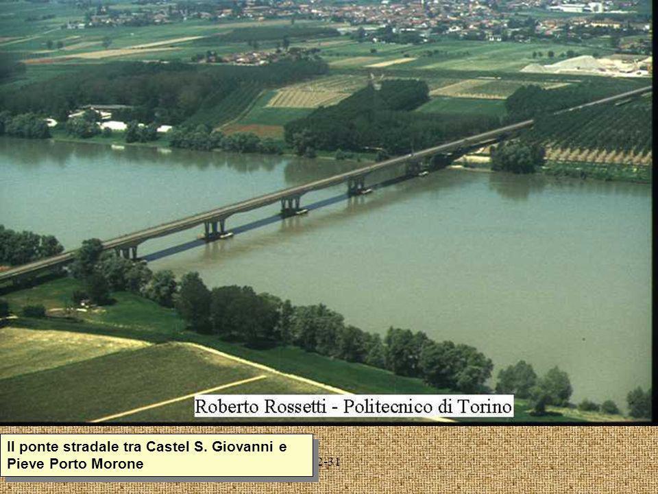 Il ponte stradale tra Castel S. Giovanni e Pieve Porto Morone