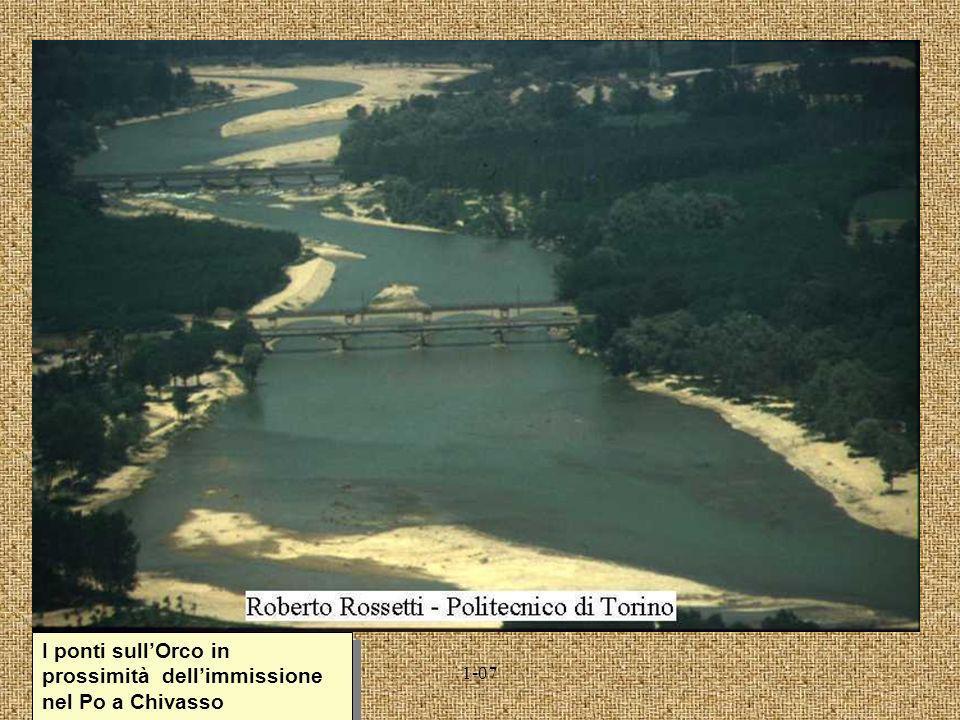 I ponti sull'Orco in prossimità dell'immissione nel Po a Chivasso
