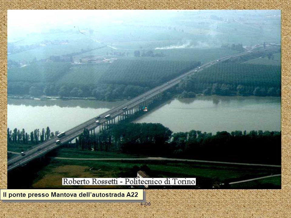 Il ponte presso Mantova dell'autostrada A22