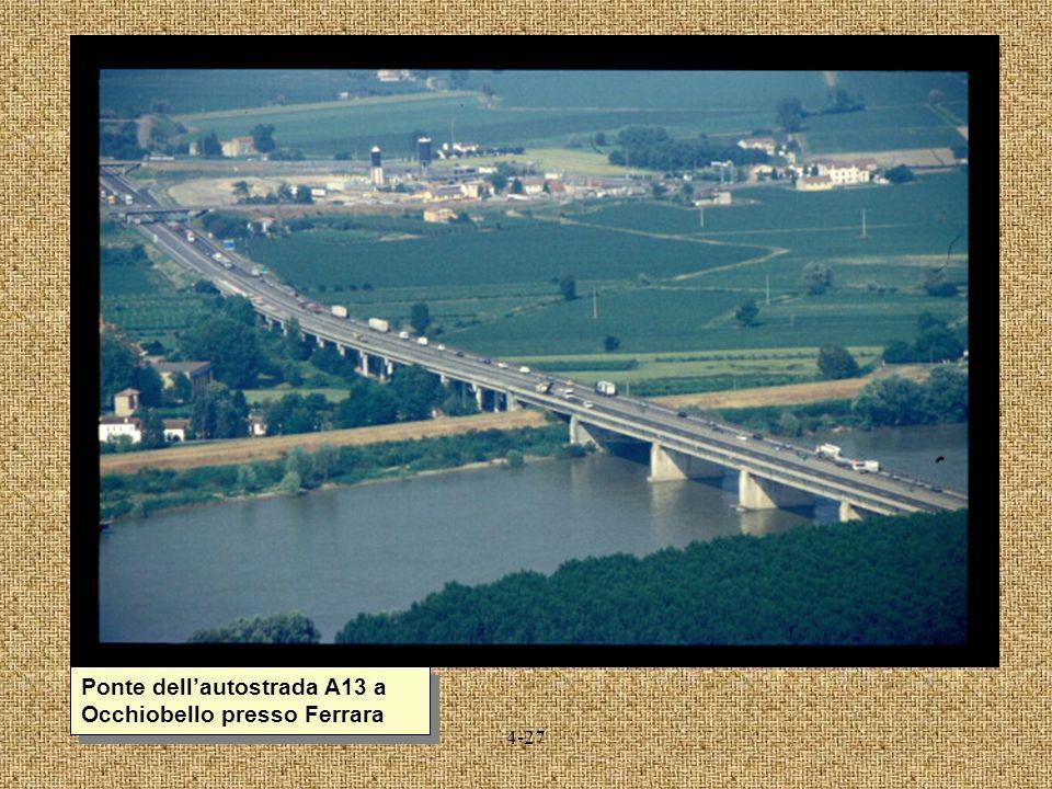 Ponte dell'autostrada A13 a Occhiobello presso Ferrara