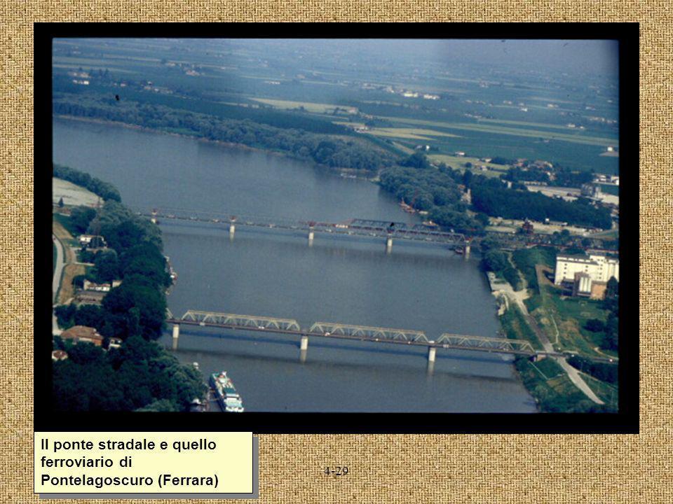 Il ponte stradale e quello ferroviario di Pontelagoscuro (Ferrara)
