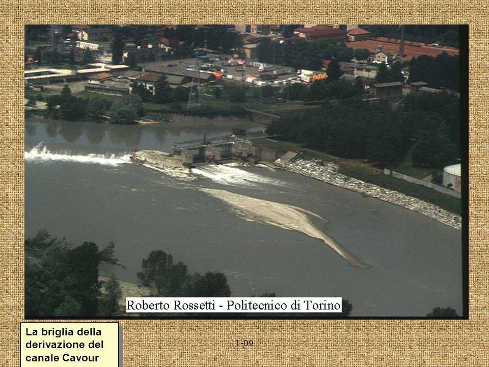 La briglia della derivazione del canale Cavour