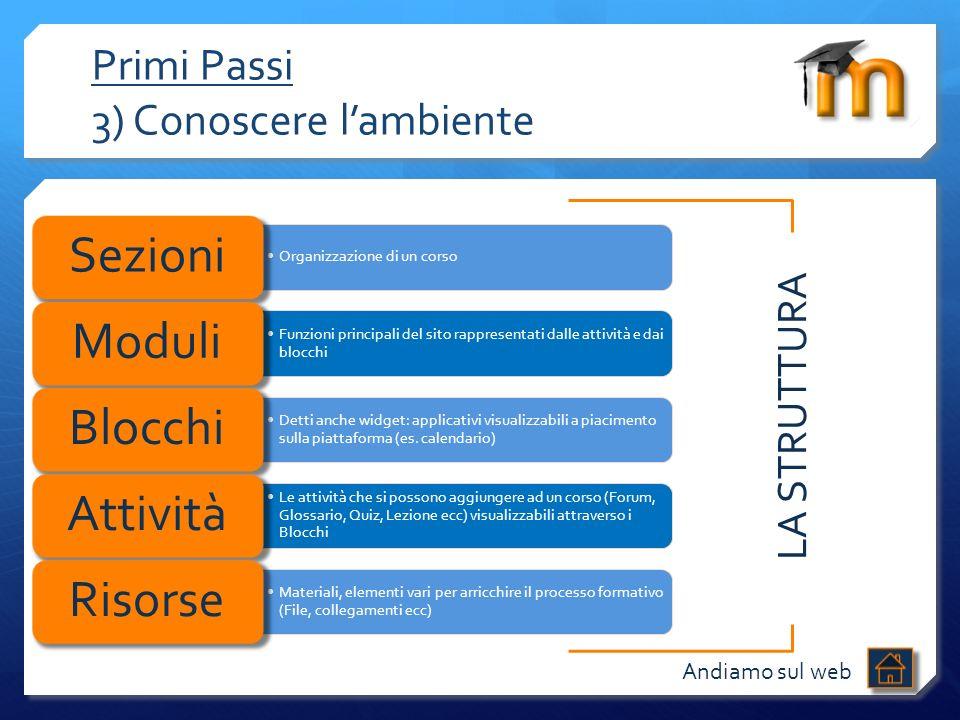 Primi Passi 3) Conoscere l'ambiente