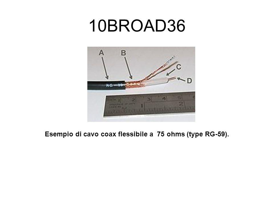 10BROAD36 Esempio di cavo coax flessibile a 75 ohms (type RG-59).