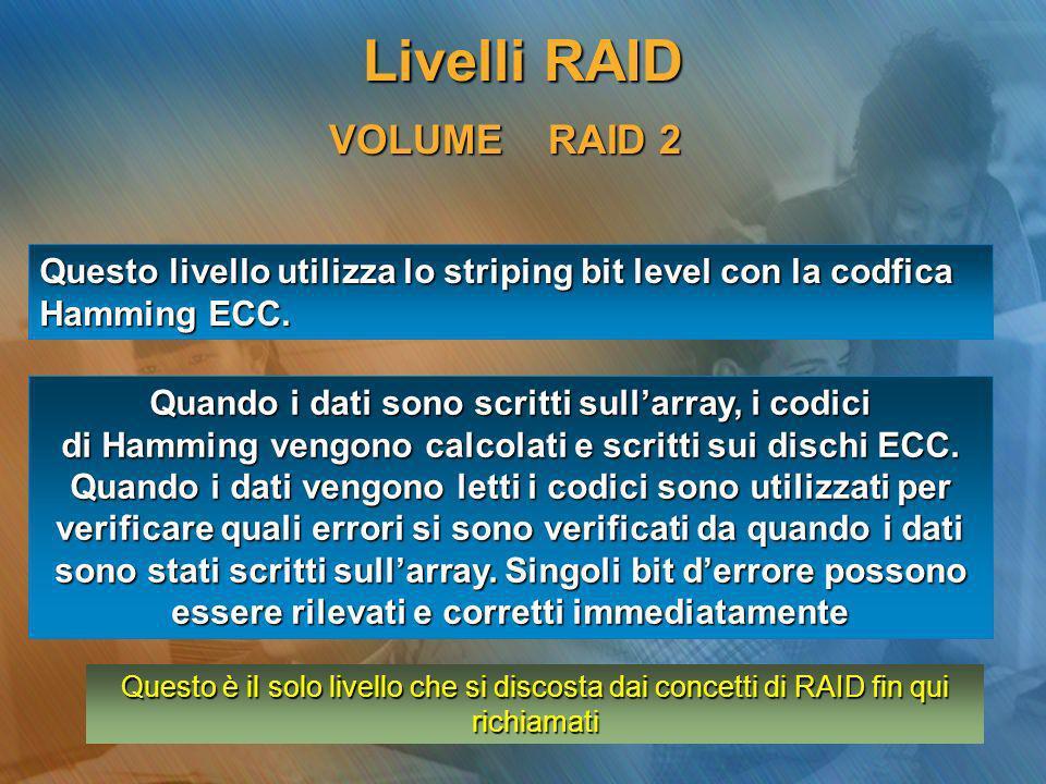 Livelli RAID VOLUME RAID 2