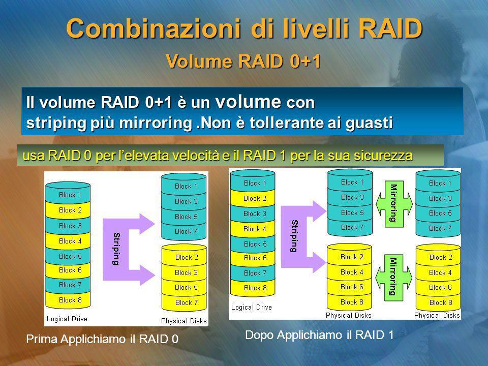 Combinazioni di livelli RAID