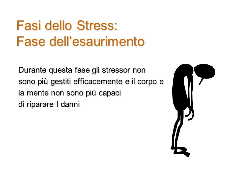 Fasi dello Stress: Fase dell'esaurimento