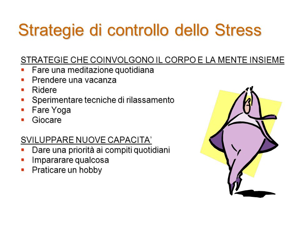 Strategie di controllo dello Stress