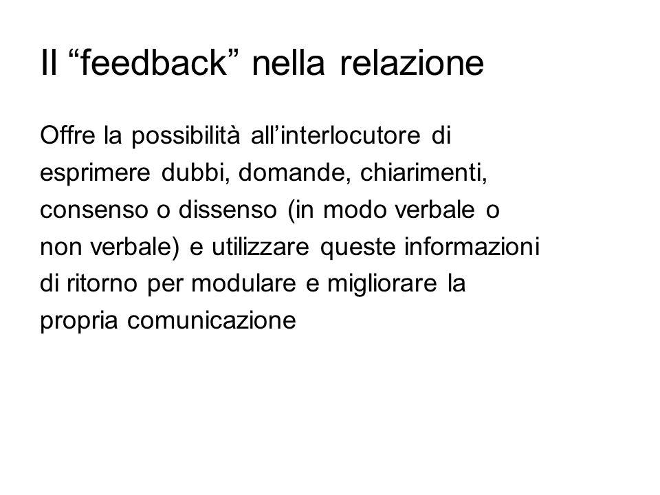 Il feedback nella relazione
