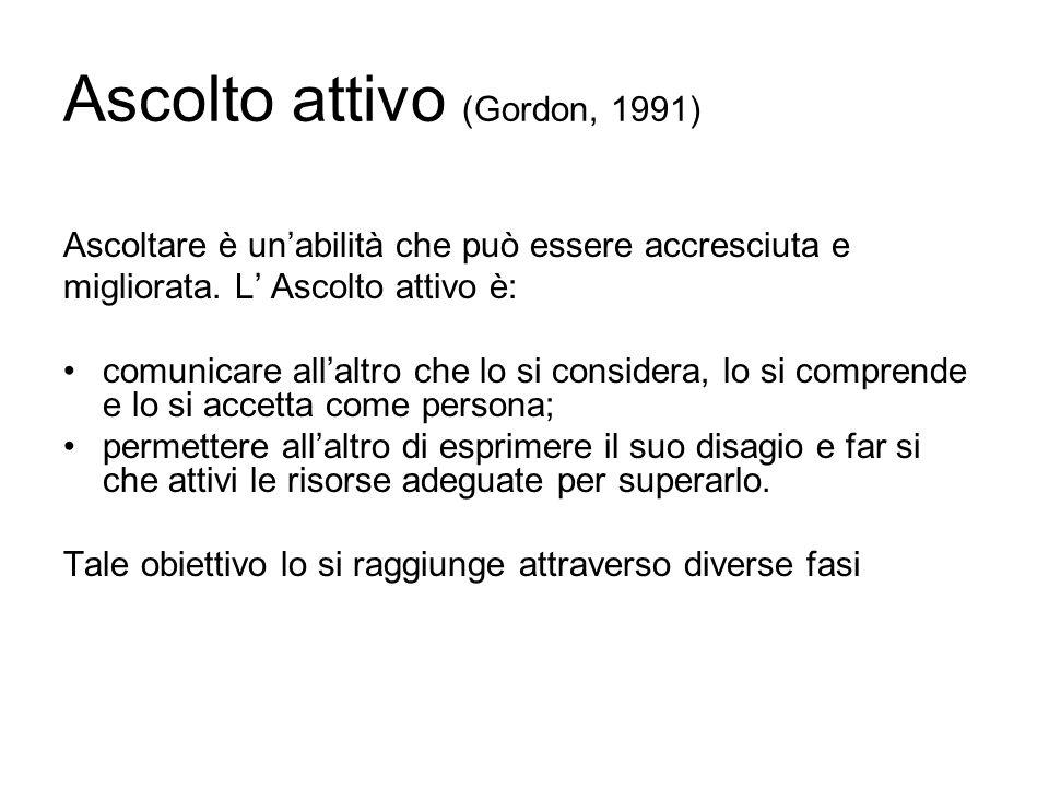 Ascolto attivo (Gordon, 1991)