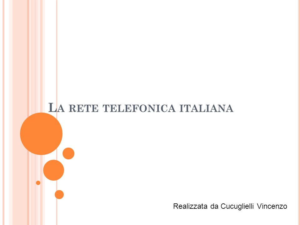 La rete telefonica italiana