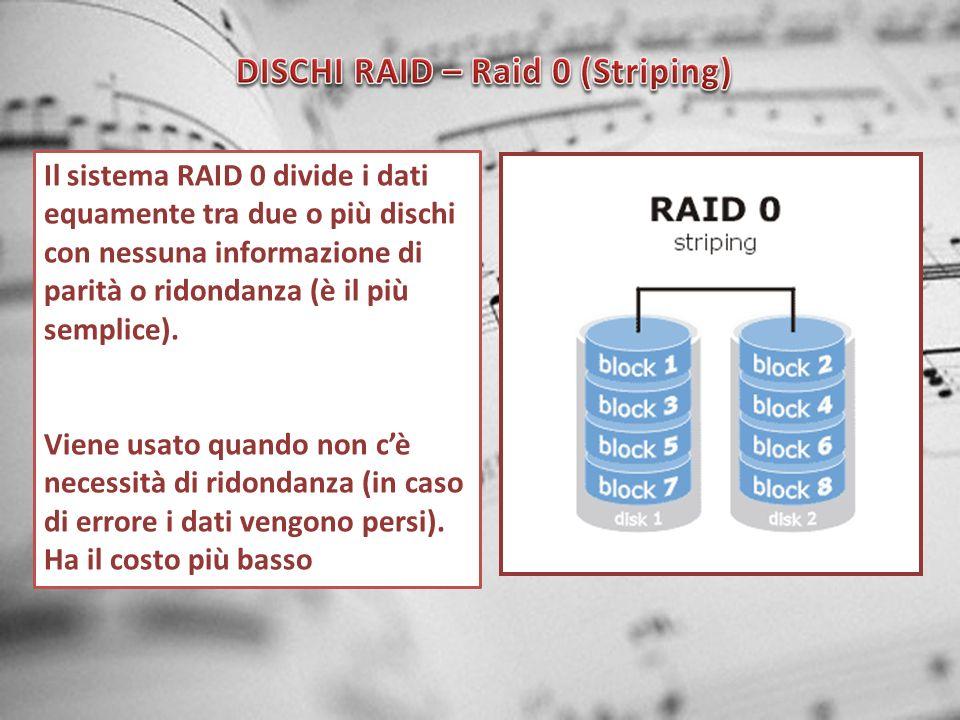 DISCHI RAID – Raid 0 (Striping)