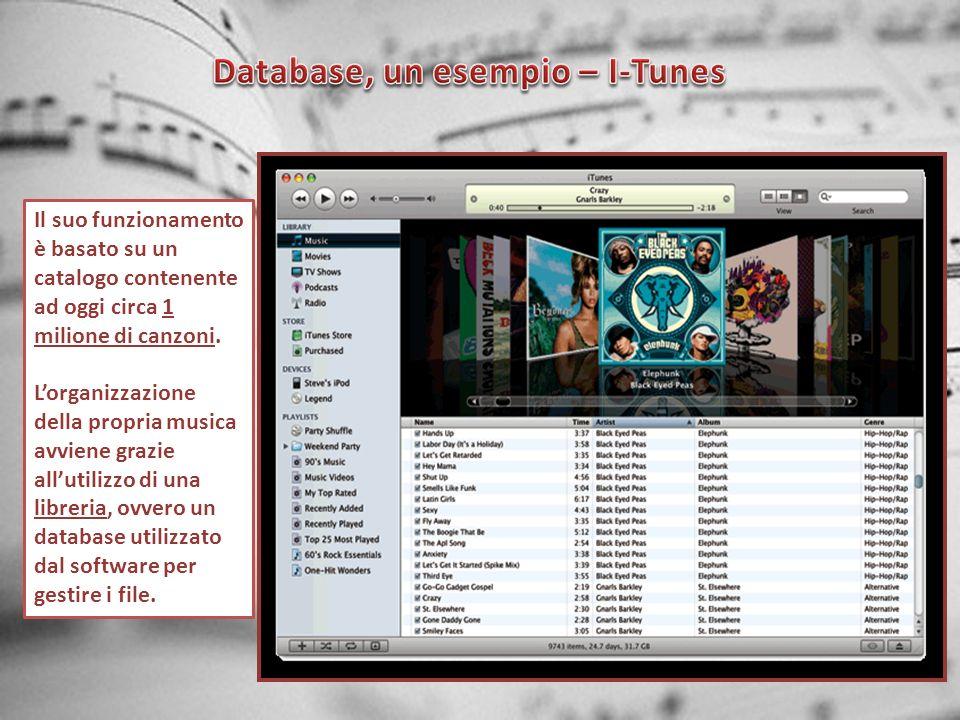 Database, un esempio – I-Tunes