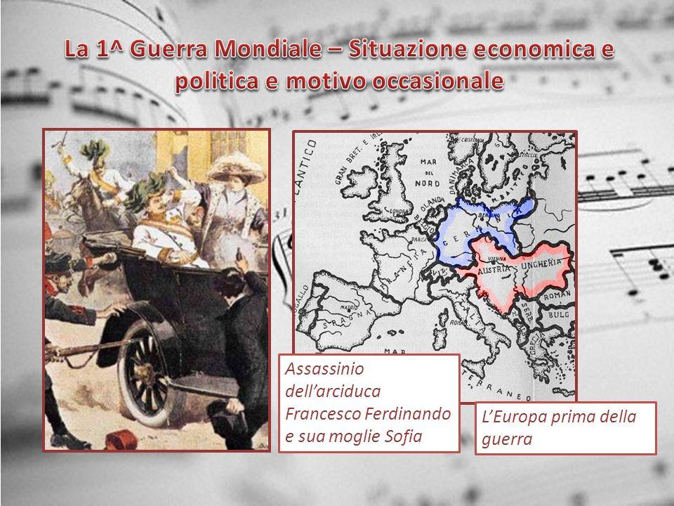 La 1^ Guerra Mondiale – Situazione economica e politica e motivo occasionale