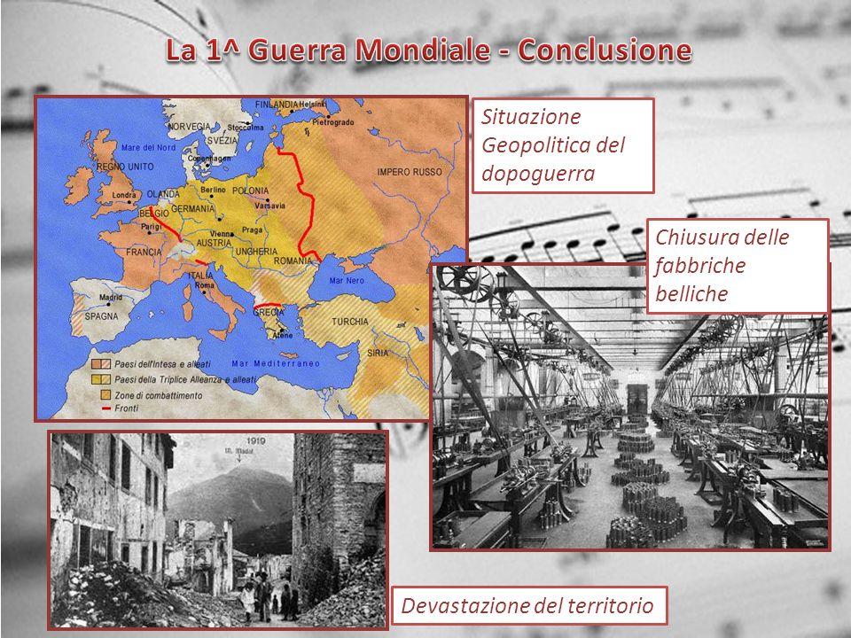 La 1^ Guerra Mondiale - Conclusione