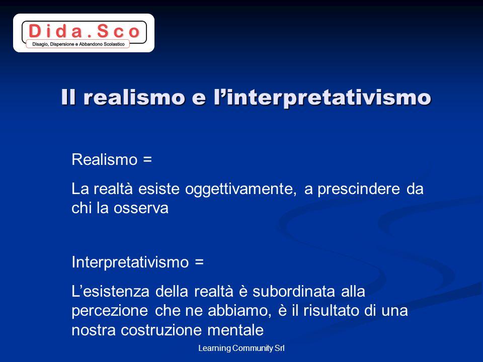 Il realismo e l'interpretativismo