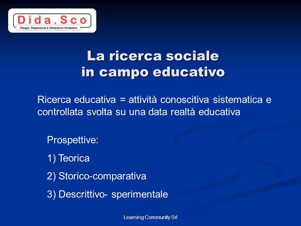 La ricerca sociale in campo educativo